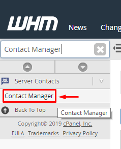 Contact Manager : Manage Server Notifications or Error